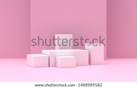 3D rendering of the pink geometric background can be used for commercial advertising