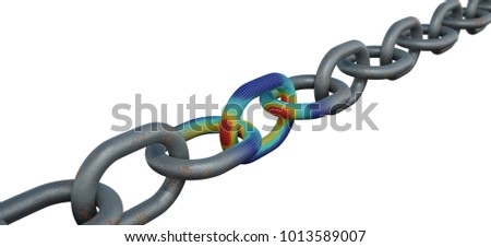 3D Rendering of the Structural Analysis of a Chain