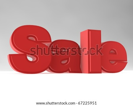 3D rendering of the word 'Sale' - stock photo