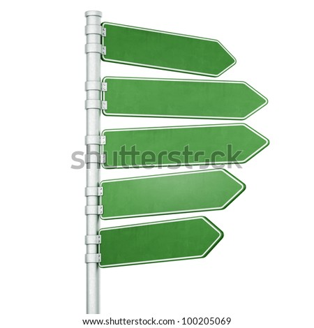 3d rendering of two blank signs