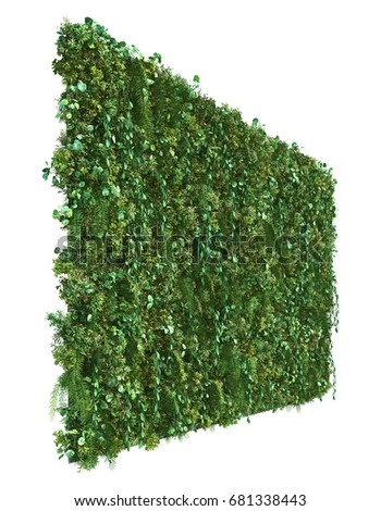3d rendering of vertical garden