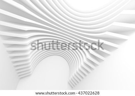3d Rendering of White Circular Building. Abstract Architecture ...