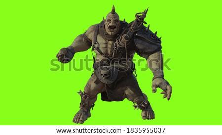 3-D rendering, Ogre, Ork, 3D CG Illustration Zdjęcia stock ©