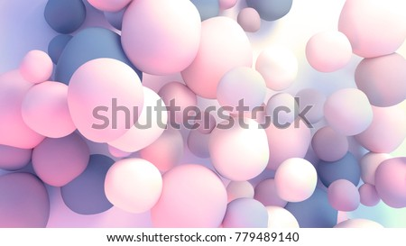 3d rendering picture of colorful balls. Abstract wallpaper and background.
