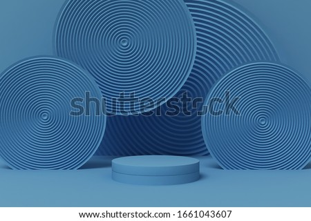3d rendering podium background mock-up scene. Abstract geometry shape pastel color. Minimal geometric shape. Cosmetic background for product presentation. stock photo