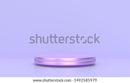 3D rendering purple geometric background can be used for propaganda posters etc