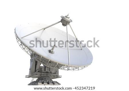 3d rendering satellite dish #452347219