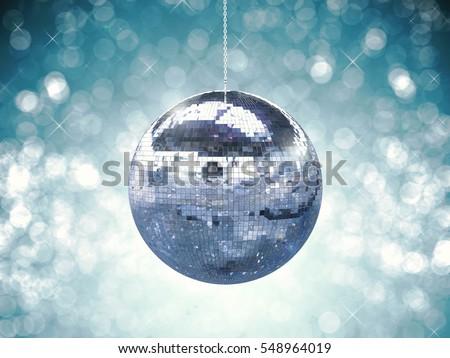3d rendering shiny disco ball or mirror ball