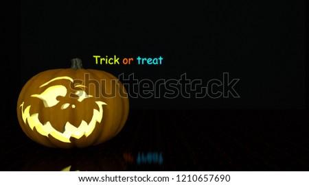 3d rendering smiling pumpkin. Good for helloween postcards. Helloween celebration