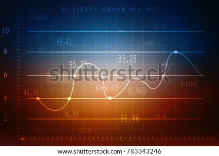 2d rendering Stock market online business concept. business Graph #783343246