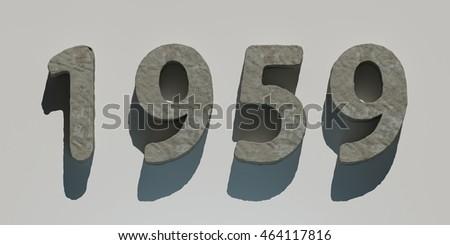 Shutterstock 3d rendering stone year 1959
