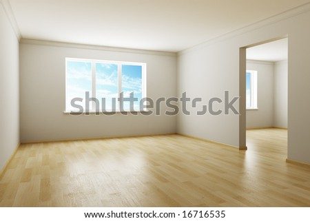 3d rendering the empty room