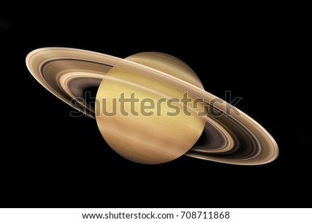 3d rendering. The Saturn isolated with background. Extremely detailed image. Other planets available.