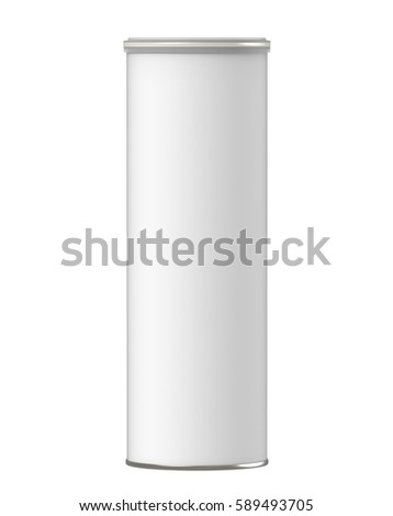 3d rendering white carton cylinder box with clear plastic lid mock