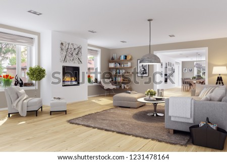 3d renderings living interior #1231478164