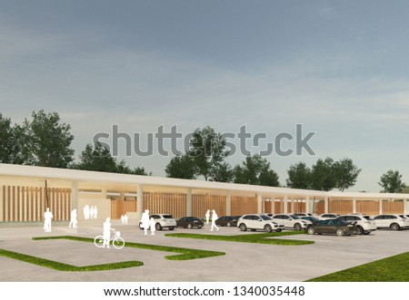 3D renderings of the built environment and urban development 3D renderings of landscape architecture and garden designs 3D renderings of statues, l #1340035448
