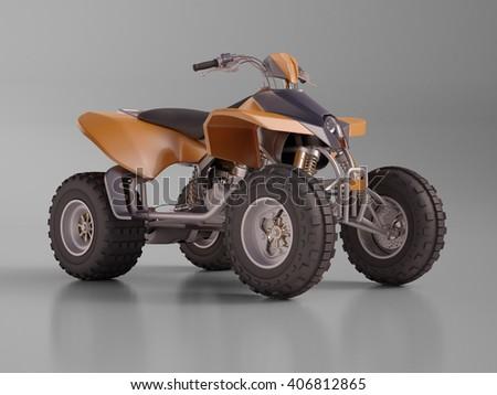 3d renfering: ATV quad bike, studio shooting, soft lighting Stock photo ©