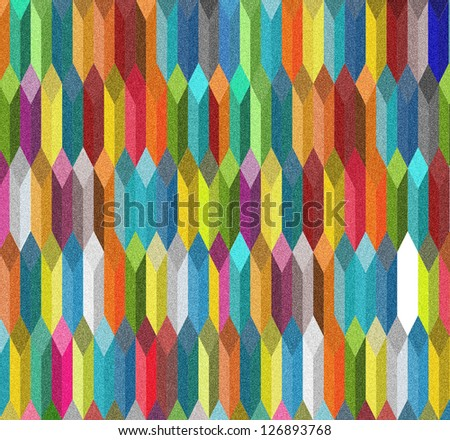 3d rhombus with sand paper texture abstract background