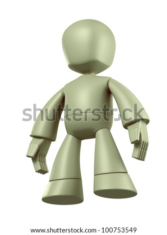 3D Robot character design. isolated