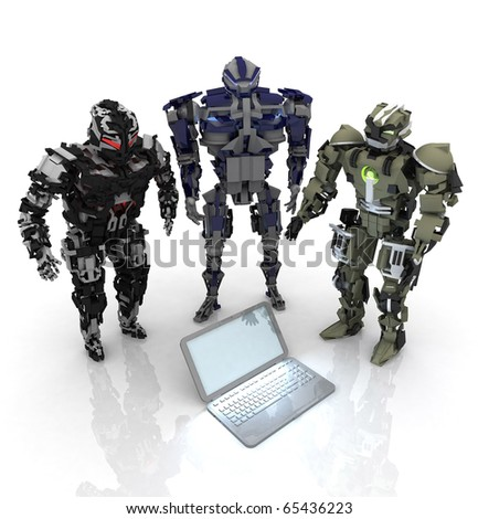 3d robots with computer