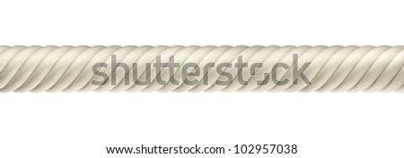 3D ropes on white background, isolated