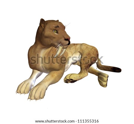 3D Saber Tooth Tiger
