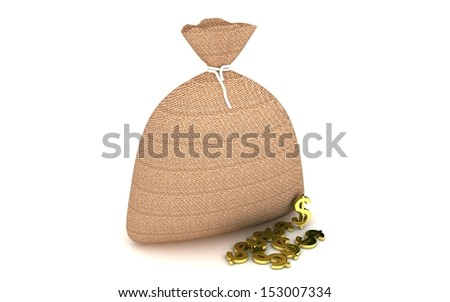 3d Sack and money