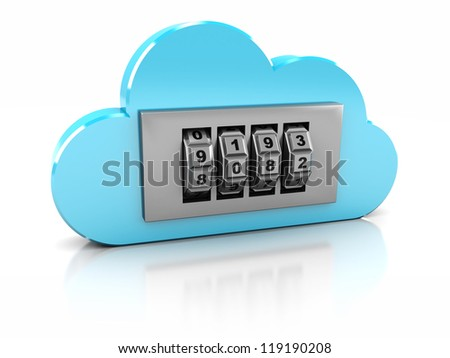 3d safe in blue cloud- protection information