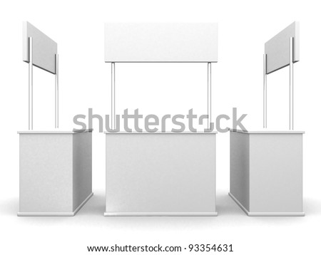 3D sale curve desk wrap advertising on a white background. 3d render illustration