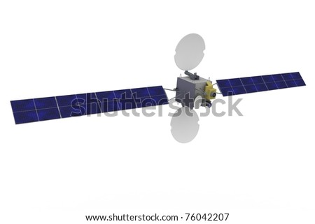 3d satellite geostationary isolated on white background