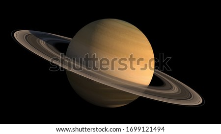 3D Saturn planet and rings close-up rendering with the clipping path included in the illustration, for space exploration backgrounds. Elements of this image furnished by NASA. Stockfoto ©