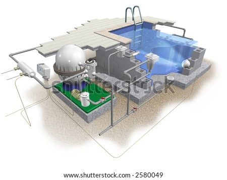 3d scheme of swimming pool