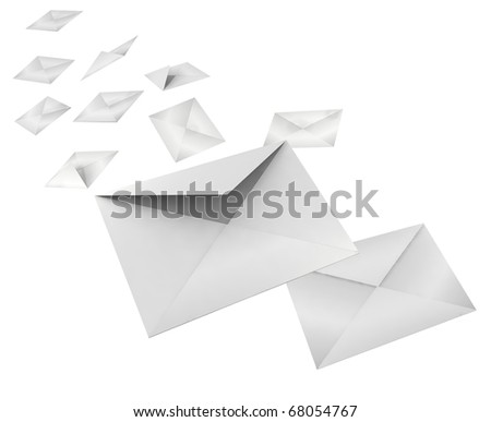 3d sealed envelope on a white background