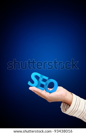 3d SEO in hand