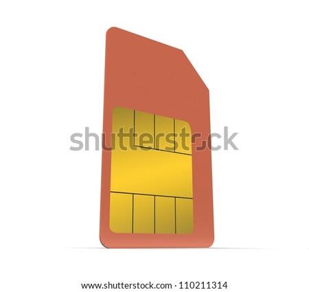 3d Set of color SIM cards