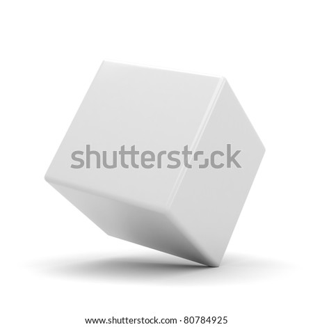 3d shiny colorful cubes, on white background