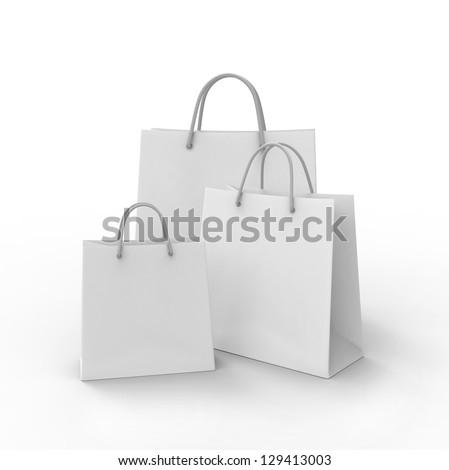 3d shopping bag. 3d render