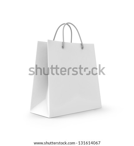 3d shopping bag. 3d render