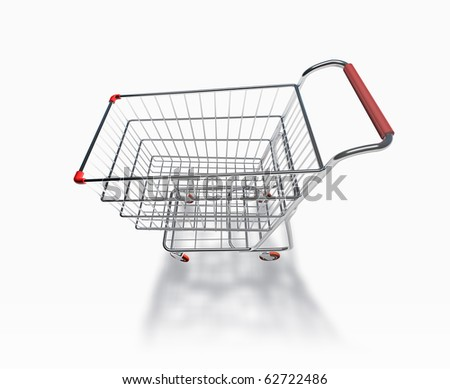 3D Shopping Cart Perspective View