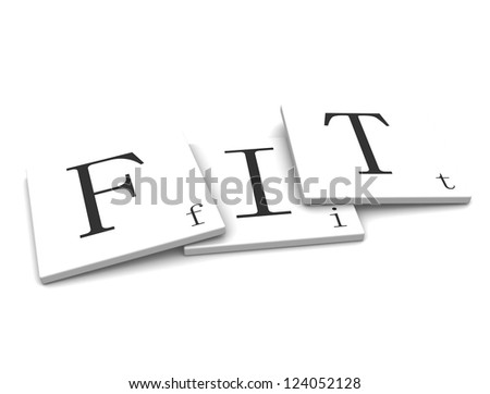 3D Sign word: Fit