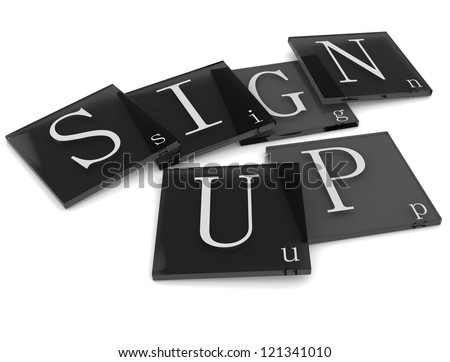 3D Sigs Word Sign Up