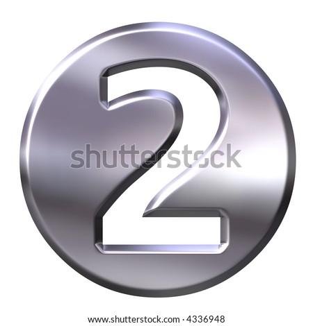 3D Silver Framed Number 2