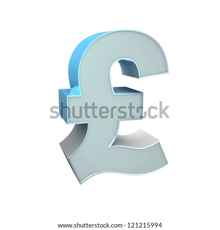 3d Silver Sign. Pound