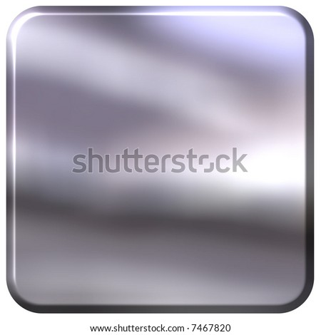 3D Silver Square with rounded edges