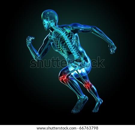 3D Skeleton Running, Knee Pain
