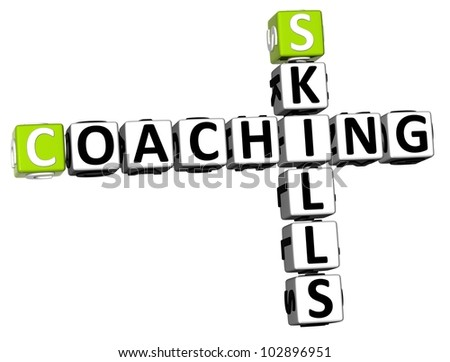 3D Skills Coaching Crossword on white background