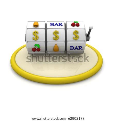 3d slot machine icon
