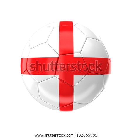 3d soccer ball with england flag