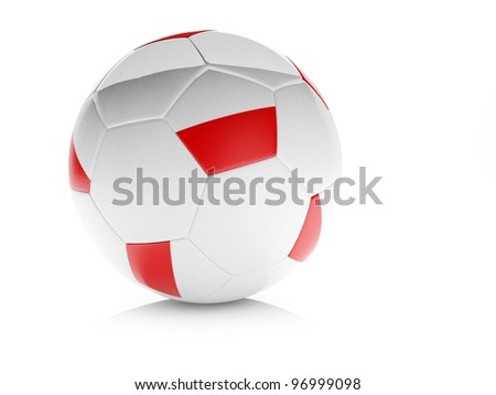 3d soccer ball with Polish flag, isolated white. Part of collection set