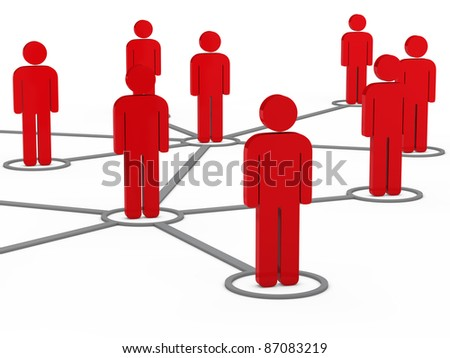 3d social network team red men group